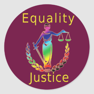 Equality and Justice Classic Round Sticker
