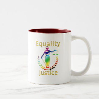 Equality and Justice Coffee Mugs