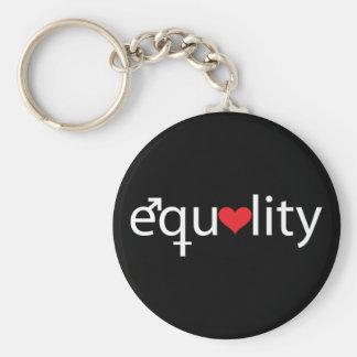 Equality Basic Round Button Keychain