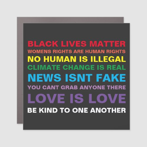 equality  black lives matter pride car magnet