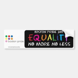 Equality Bumper Car Bumper Sticker