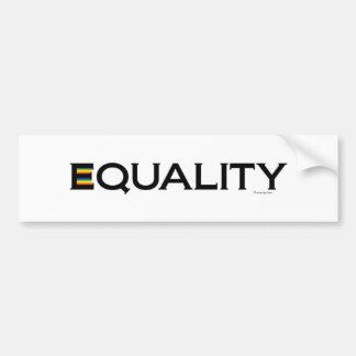 EQUALITY Bumper Sticker Car Bumper Sticker