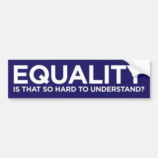 Equality Car Bumper Sticker