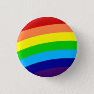 equality colorful rainbow pinback button