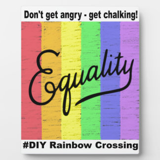 Equality #DIY Rainbow - Dispaly Plaque
