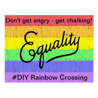 Equality  #DIY Rainbow - Postcard