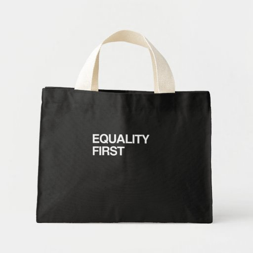 EQUALITY FIRST CANVAS BAG