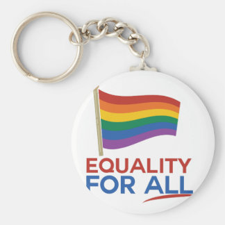 Equality For All Basic Round Button Keychain
