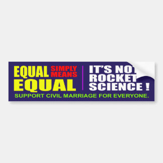 Equality for All Bumper Stickr Bumper Sticker
