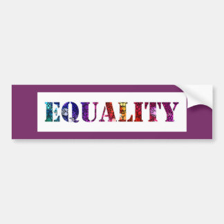 Equality for all design bumper sticker