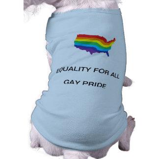 EQUALITY FOR ALL-GAY PRIDE DOG SHIRT