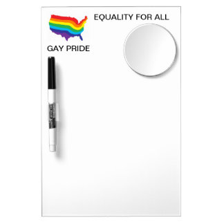 EQUALITY FOR ALL-GAY PRIDE DRY ERASE W/MIRROR Dry-Erase WHITEBOARDS