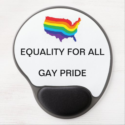 EQUALITY FOR ALL-GAY PRIDE GEL MOUSEPAD