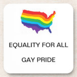 EQUALITY FOR ALL-GAY PRIDE HARD COASTER SET