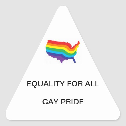 EQUALITY FOR ALL-GAY PRIDE TRIANGLE STICKER