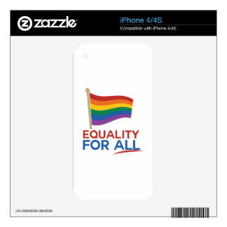 Equality For All iPhone 4S Decal