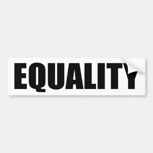 Equality for All LGBT Support Bumper Sticker