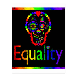 Equality for everyone - Even the dead Postcard