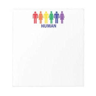 EQUALITY GAY RIGHTS RAINBOW PEOPLE MEMO PAD
