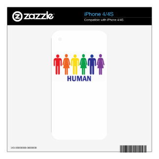 EQUALITY GAY RIGHTS RAINBOW SKINS FOR iPhone 4S