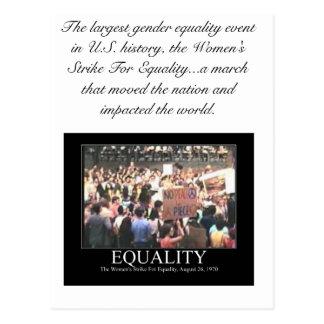 EQUALITY, I AM WOMAN POSTCARD