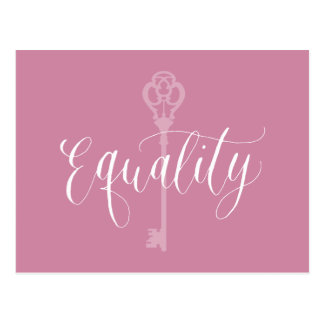 Equality is the key to life postcard