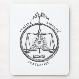 Equality Liberty Fraternity Mouse Pad