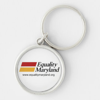 Equality MD- Keyring Silver-Colored Round Keychain