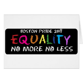 Equality Notecard Card