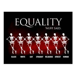 Equality. 'Nuff said. Postcard