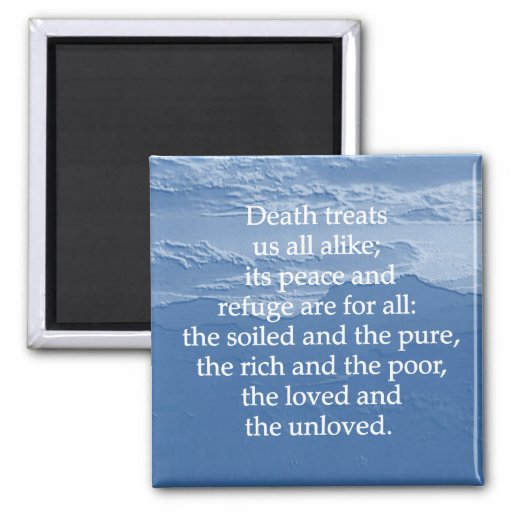 Equality of Death 2 Inch Square Magnet