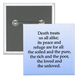 Equality of Death Pinback Button