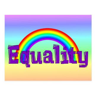 Equality Rainbow Postcard