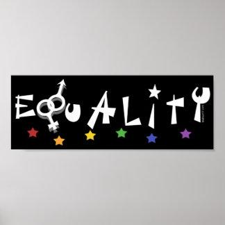 Equality Rainbow Stars Posters