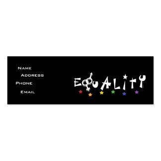 Equality Stars Profile Card Business Card Templates