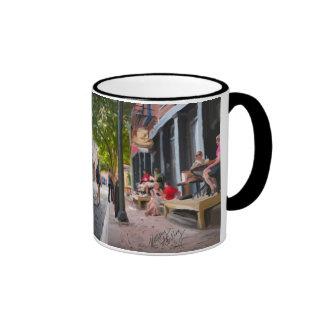 Equality Street watercolor painting on a Mug Ringer Mug