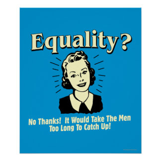 Equality: Take Men Too Long Catch Up Poster