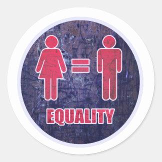 Equality V2 Classic Round Sticker