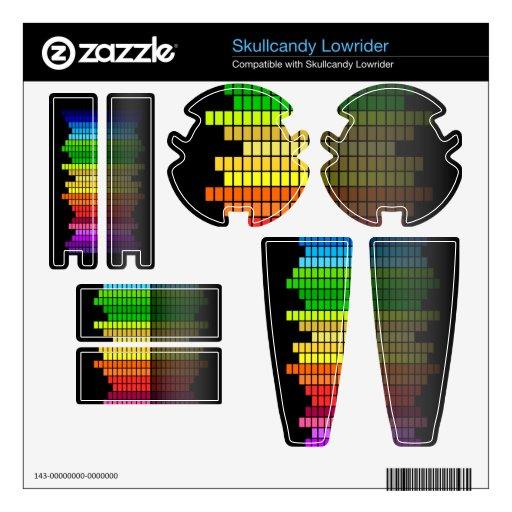 Equalizador colorido de la música skullcandy lowrider calcomanía