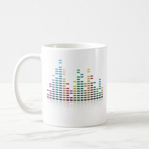 equalizador de la música tazas de café