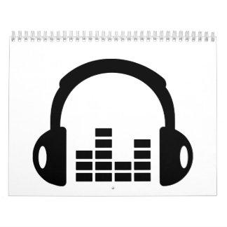Equalizador de los auriculares calendario de pared