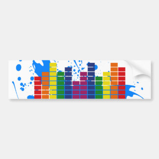 Equalizador del arco iris de LGBT Pegatina Para Auto