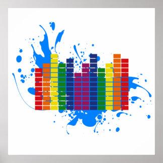 Equalizador del arco iris de LGBT Póster