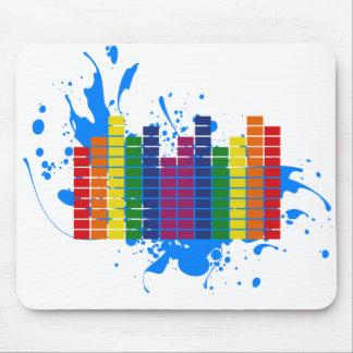 Equalizador del arco iris de LGBT Tapetes De Raton