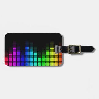 equalizador del arco iris etiquetas maleta