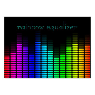 equalizador del arco iris plantilla de tarjeta de negocio