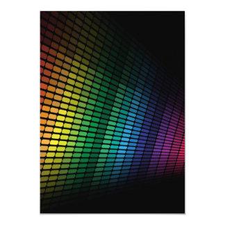 Equalizador multicolor invitación 12,7 x 17,8 cm