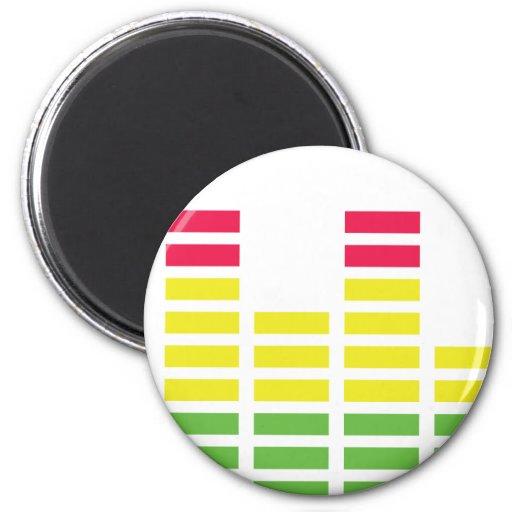 Equalizer Audio Sound Fridge Magnets