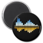 Equalizer - Blue/Gold Refrigerator Magnets
