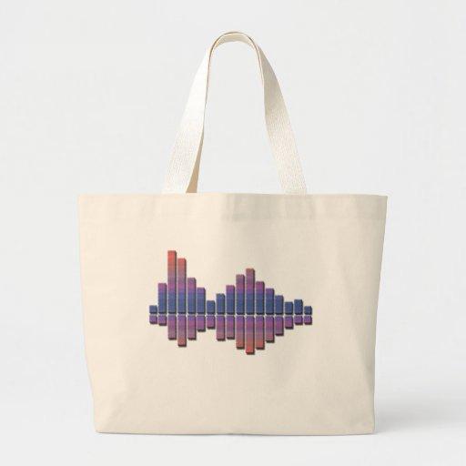 Equalizer - Blue/Purple Jumbo Tote Bag